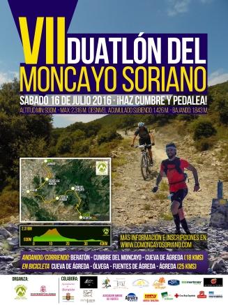 Cartel Duatlón del Moncayo 2016